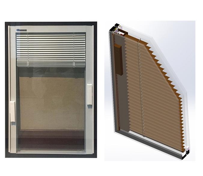 三玻两腔式内置百叶中空玻璃